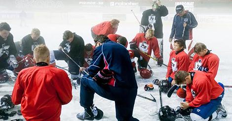 Team Praying Together